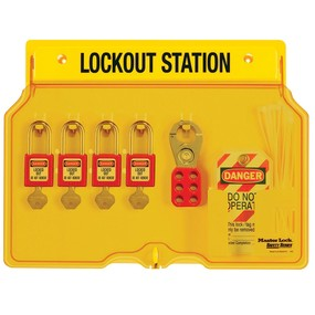 4-Lock Padlock Station, Zenex™ Thermoplastic Padlocks - Industrial Labelling supplies