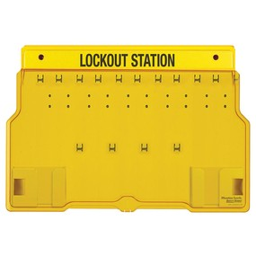 10-Lock Padlock Station, Unfilled - Industrial Labelling supplies