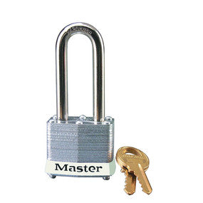 Laminated steel safety padlock, 40mm wide with 51mm tall shackle - Industrial Labelling supplies
