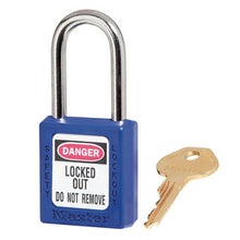 410 Zenex™ thermoplastic safety padlock, 38mm wide with 38mm shackle - Industrial Labelling supplies