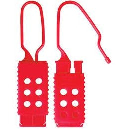 Nylon Non-Conductive Lockout Hasp, 25mm x 64mm Jaw Clearance - Industrial Labelling supplies