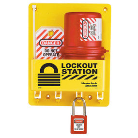 Compact Lockout Center, Plug Lockout, Zenex™ Thermoplastic Padlocks - Industrial Labelling supplies