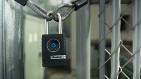 56mm wide Master Lock Smart padlock; Bluetooth; outdoor use - Industrial Labelling supplies