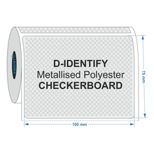 Metallised Polyester Tamper Evident label 100mm x 75mm - Industrial Labelling supplies