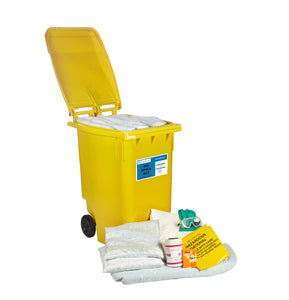 Wheel-bin 360L spill kit - Industrial Labelling supplies