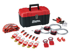 Personal safety lockout toolbox, valve & electrical focus with Zenex thermoplastic padlocks - S1117VES31KA
