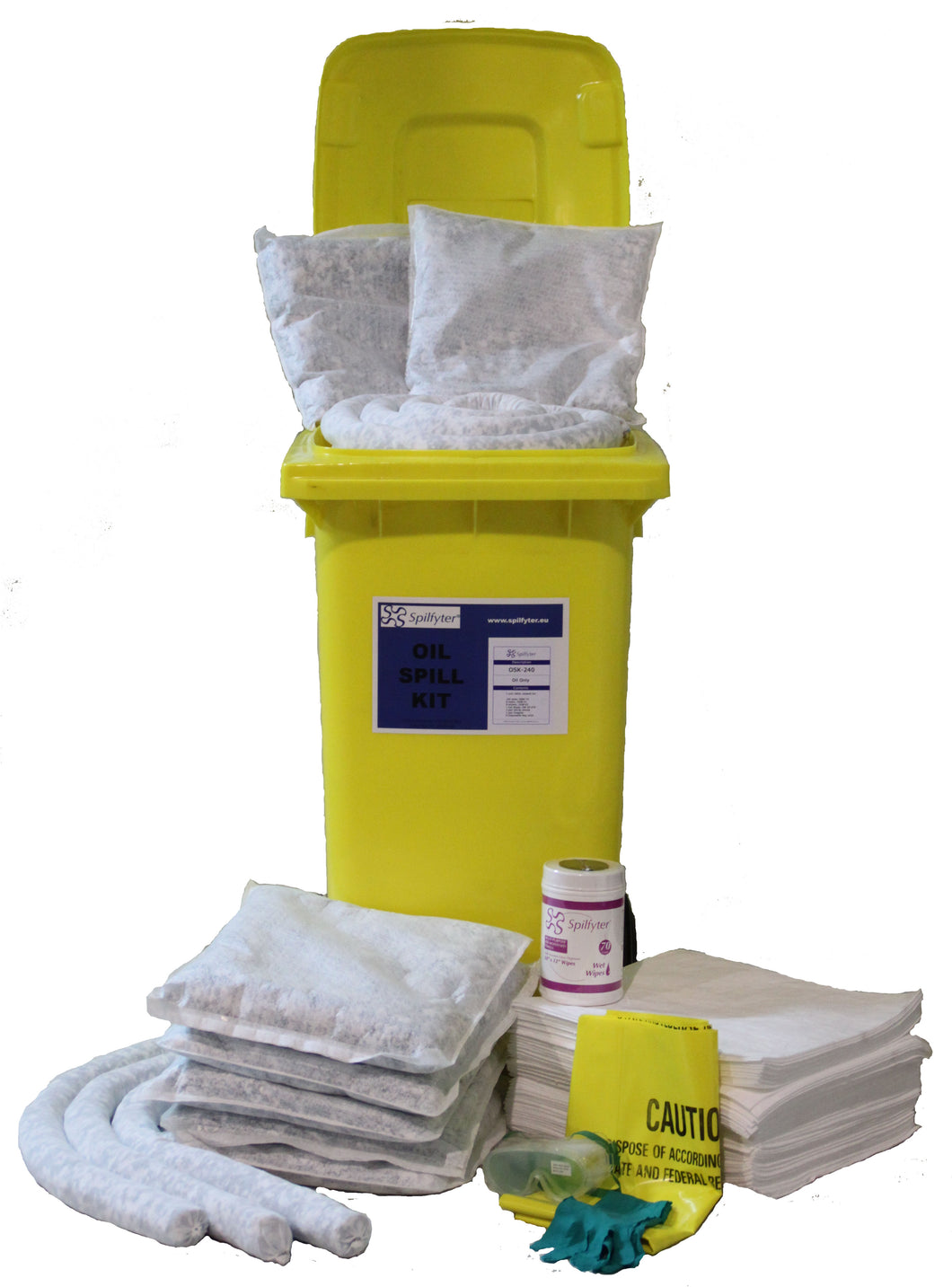 Wheel-bin 240L spill kit - Industrial Labelling supplies