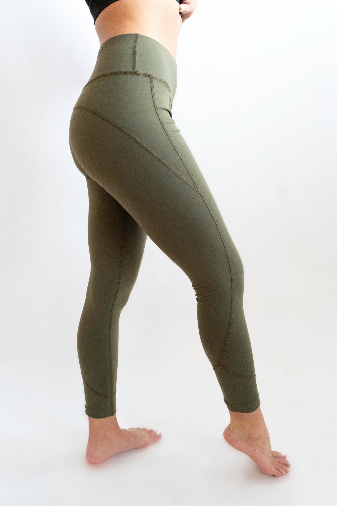 Peach Fit Olive Green