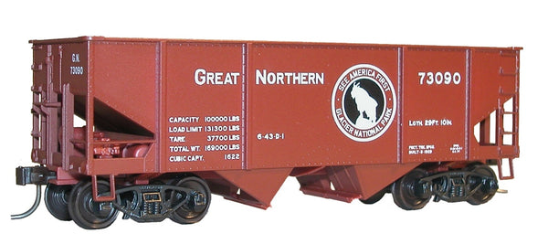 H2 Canton hopper car, Mineral Red