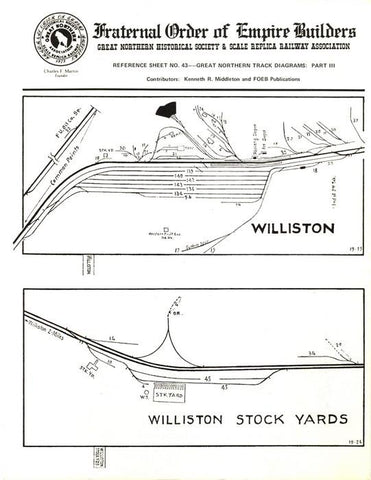 A RS043 - GN Track Diagrams; Part 3 (Williston, Great Falls, Tacoma)