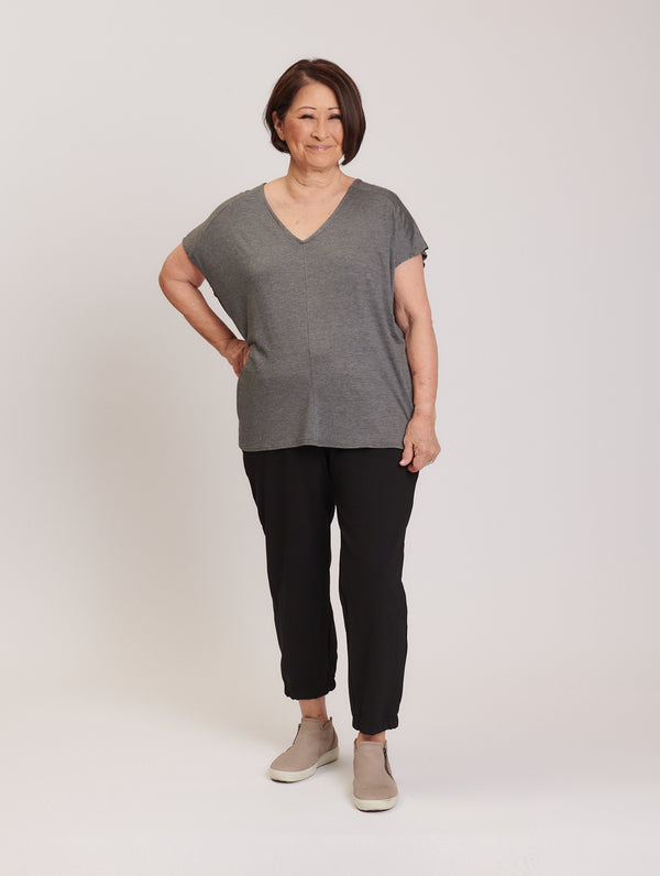 Ella Top Grey Melange