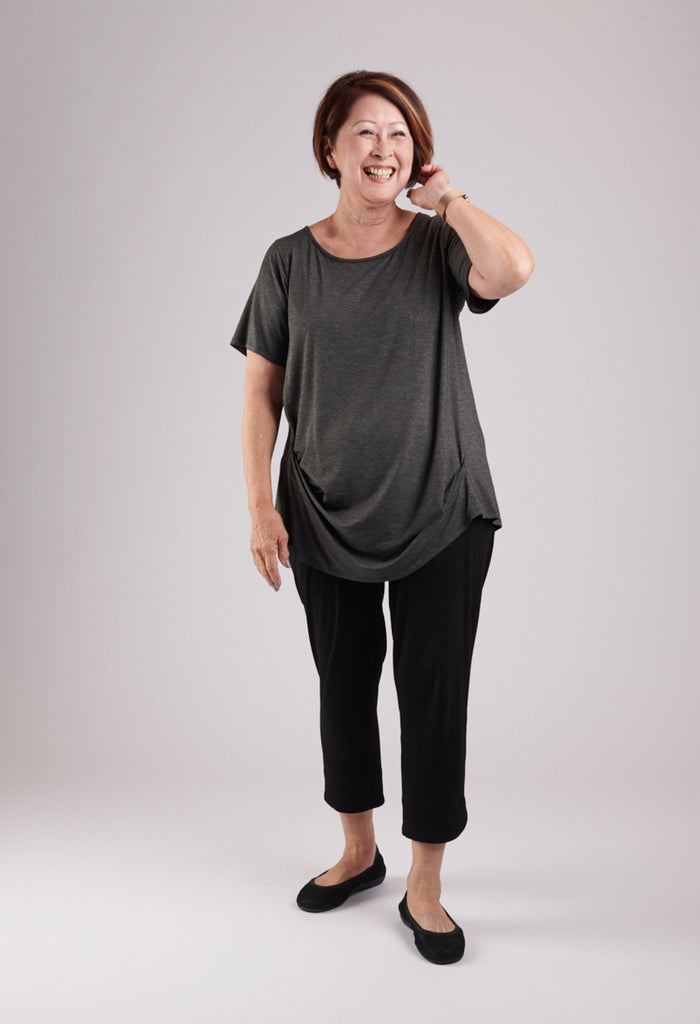 Marcie Top Charcoal