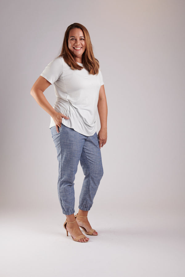 Sunrise Pant Blue Chambray
