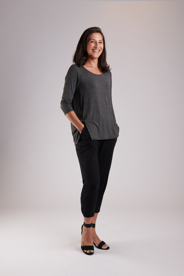 Mandy 3/4 Top Charcoal