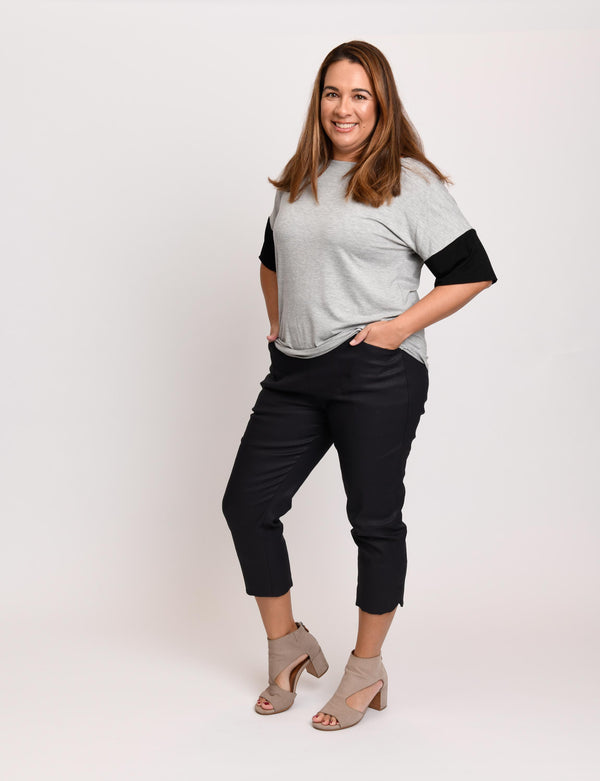 Carly Top Heather With Black