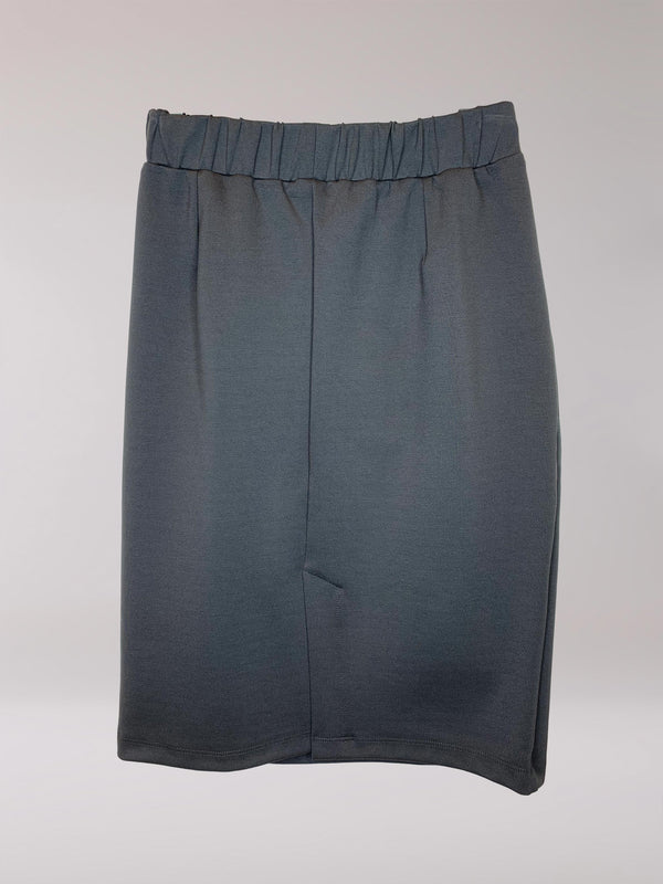 Cedar Pencil Skirt Cement Ponte