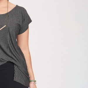 Jane Top Thin Black/White Stripe