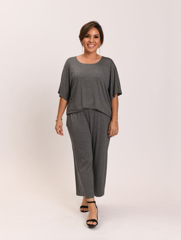 Jerri Top Grey Melange