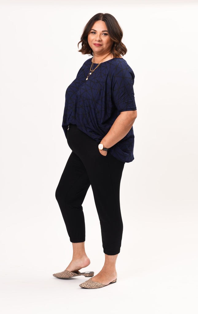 FINAL SALE- Joanna Top Navy Fissure