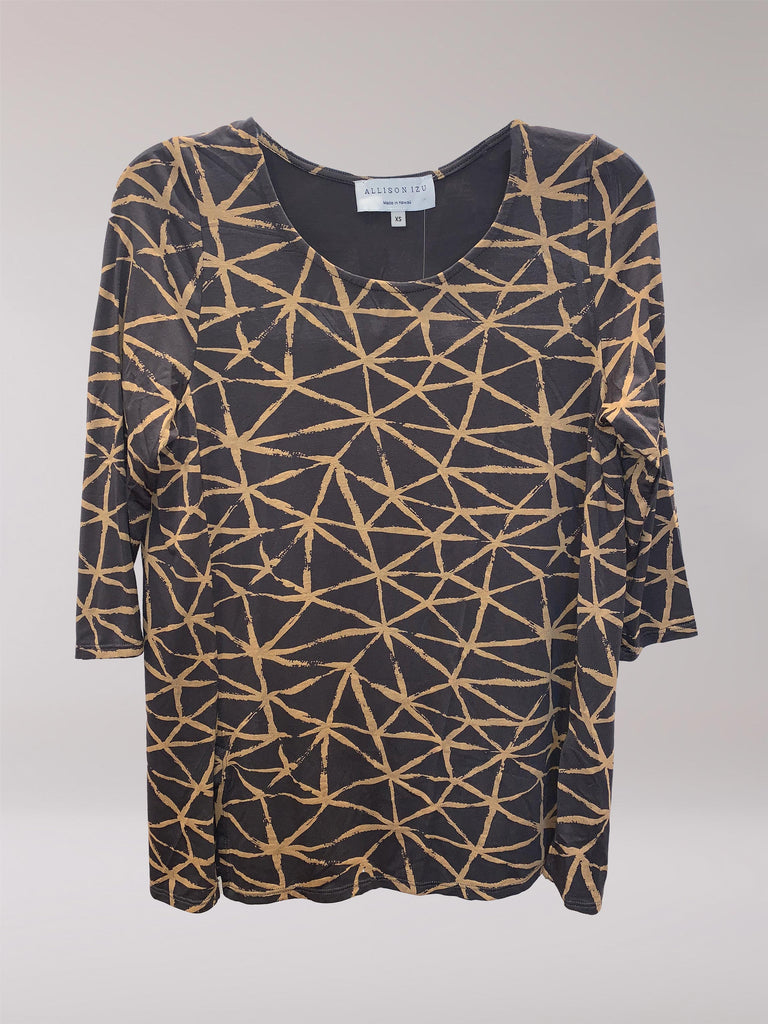 FINAL SALE - Mandy 3/4 Top Gold Fissure