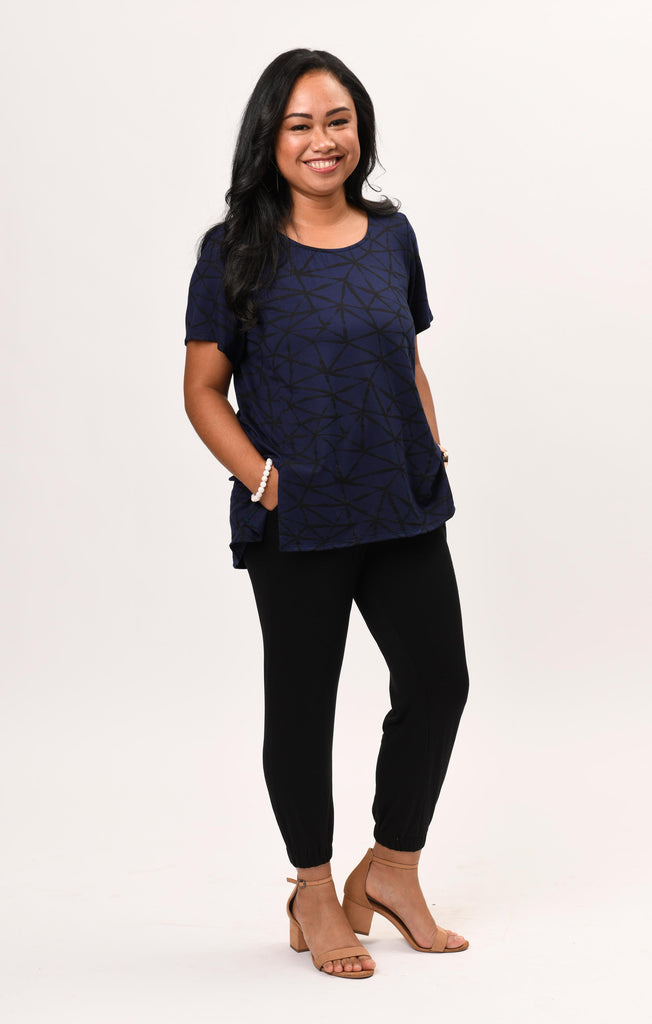 Mandy Top Navy Fissure