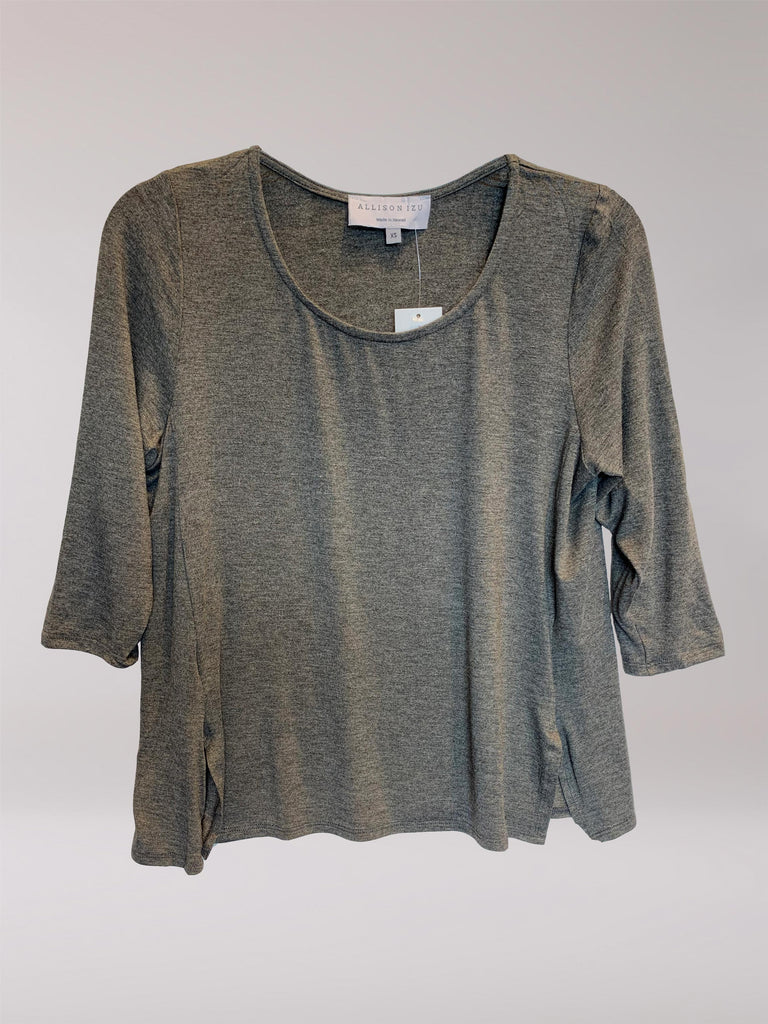 Mandy 3/4 Top Heather Charcoal
