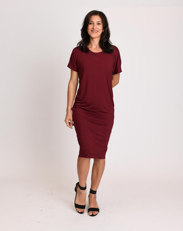 Nadia Dress Pomegranate