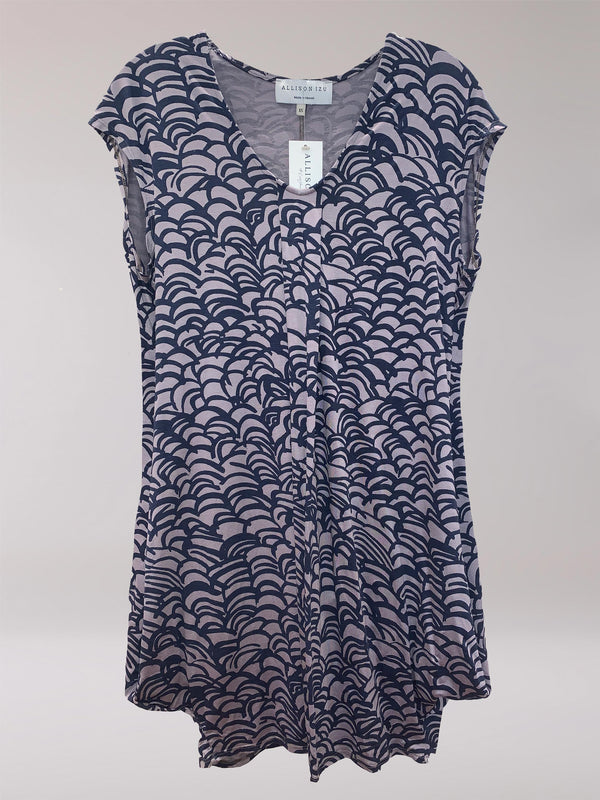 Natasha S/S Dress Navy Wave