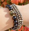Pyrite Triple Wrap Bracelet