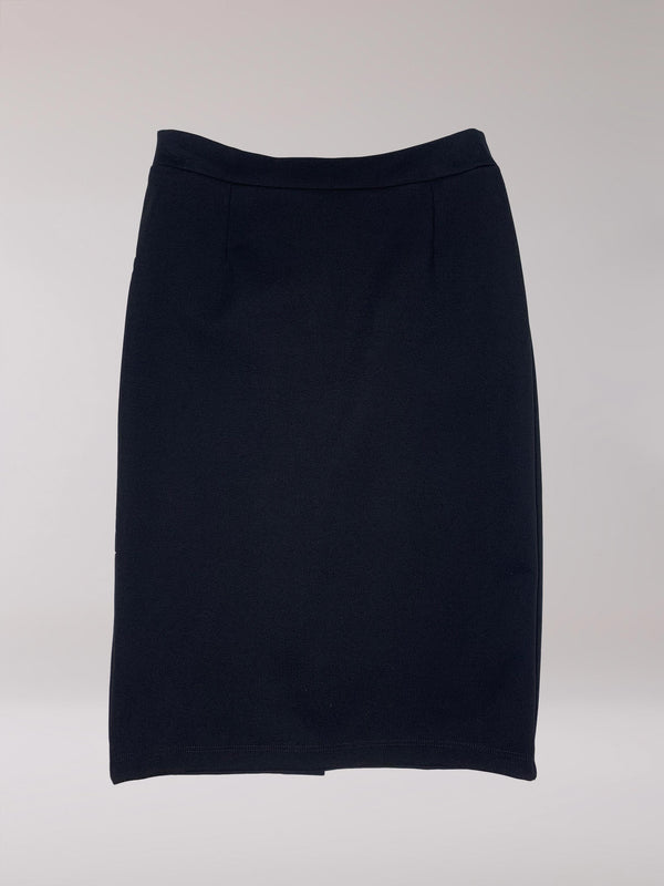 Cedar Pencil Skirt Black Ponte