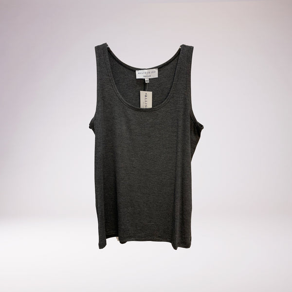 Camille Tank Charcoal