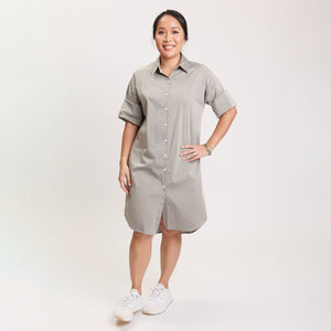 Stacey Dress Grey Poplin