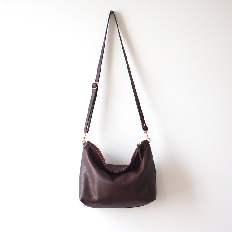 Umbrella Collective Leather Hobo Bag