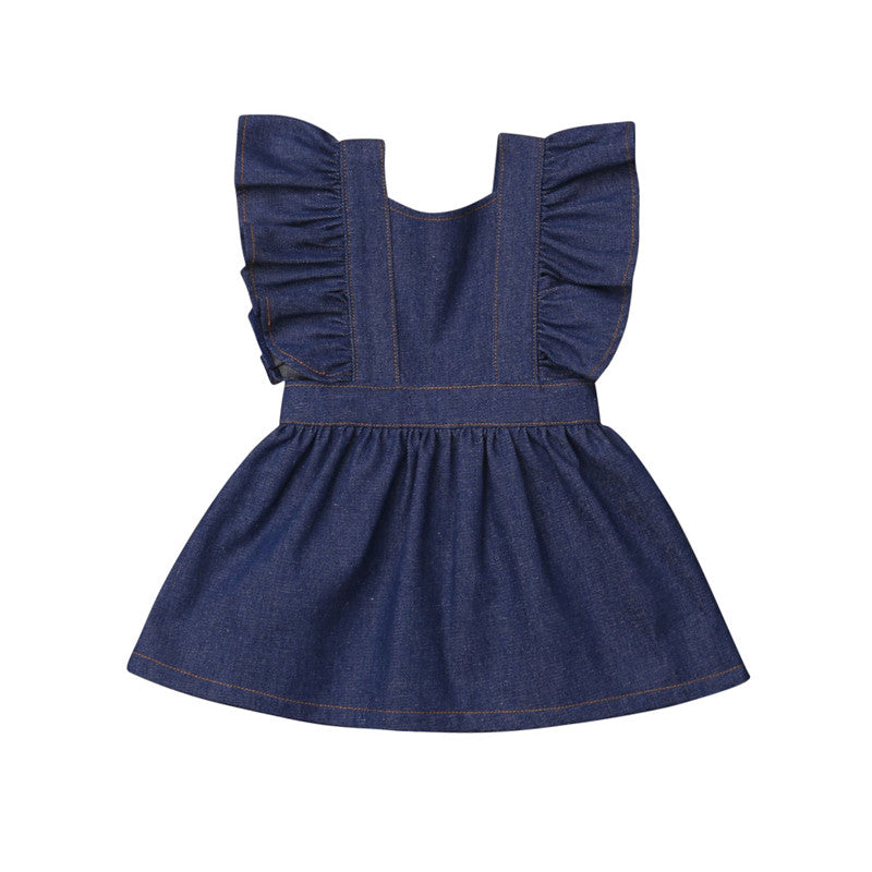 USA Toddler Baby Kids Girls Ruffle Romper Jumpsuit Bodysuit Clothes Outfits Set