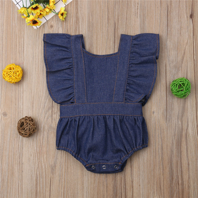 Sister Matching Available FREE SHIPPING 6m-4T Boys Blue Button-On