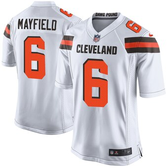 White Baker Mayfield 6 Shirt 2019/2020