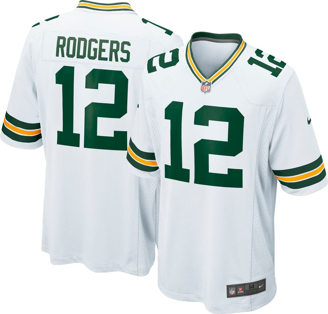 White Aaron Rodgers 12 Shirt 2019/2020