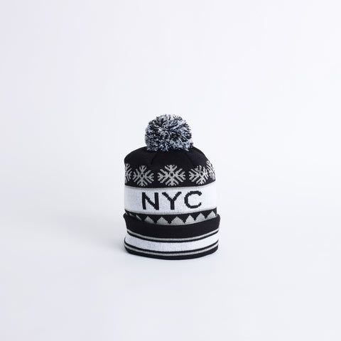 ROCK NYC Winter Pom Pom Hat