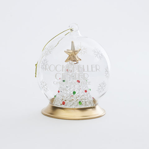 Rockefeller Center Glass Tree Globe Ornament
