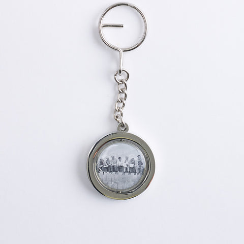 Spinner Men On A Beam Keychain
