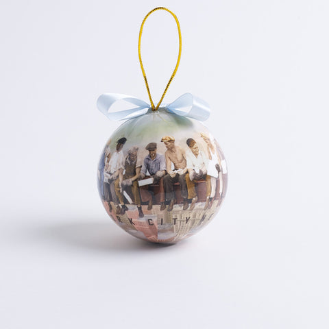 Men On A Beam Ball Ornament