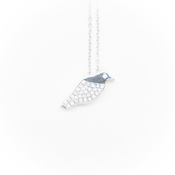 Pretty Bird Diamond Pave Necklace