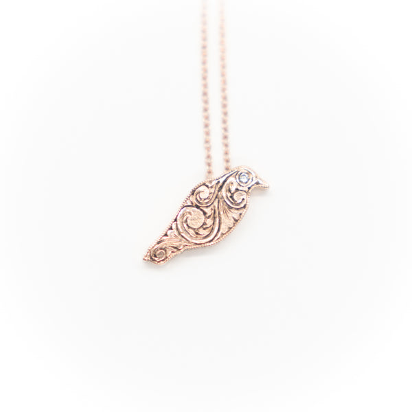 Pretty Bird 14k Necklace