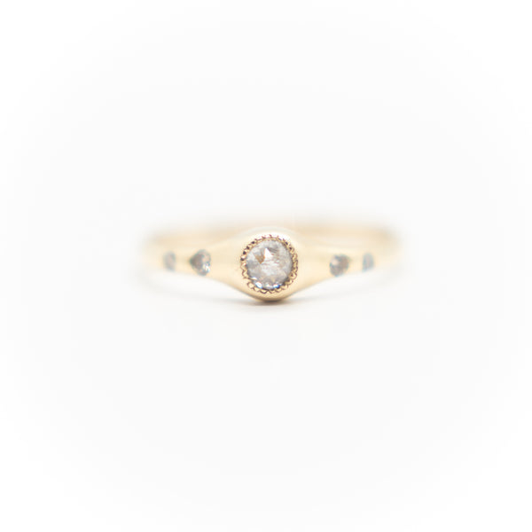 Rose Cut Narrow Diamond Ring