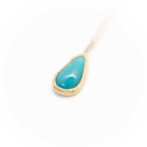 Turquoise Nugget Pendant Necklace