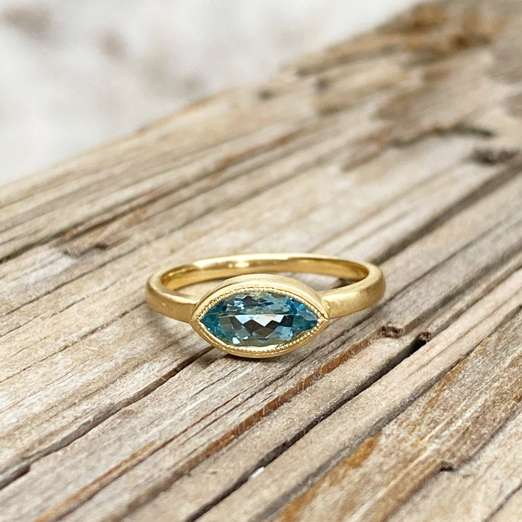 Bluest Aquamarine Ring