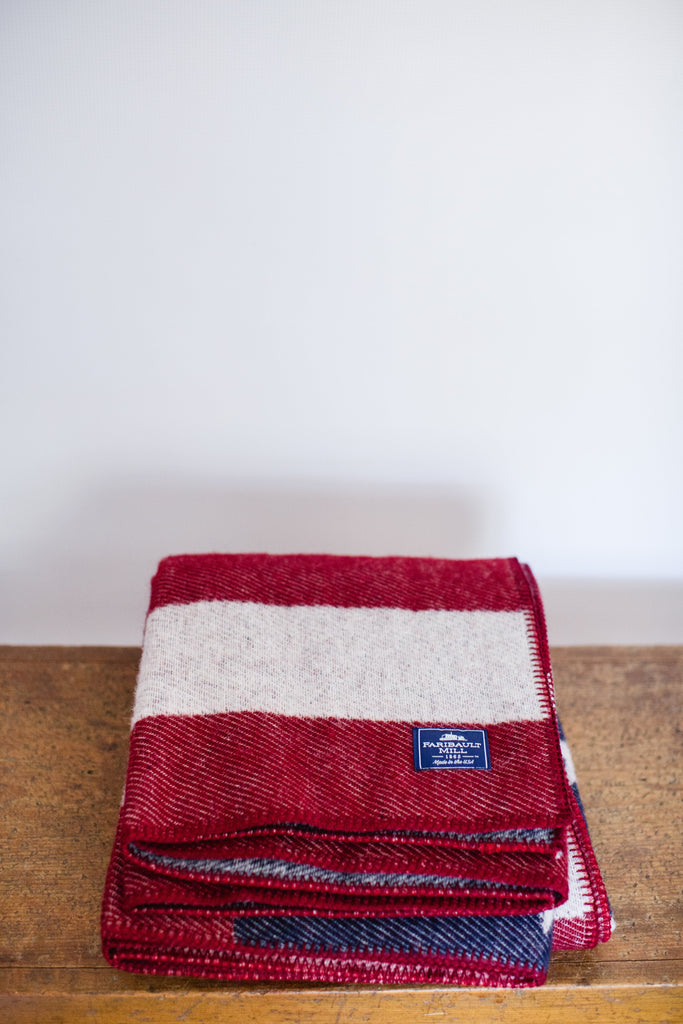 Faribault | American Flag Wool Throw