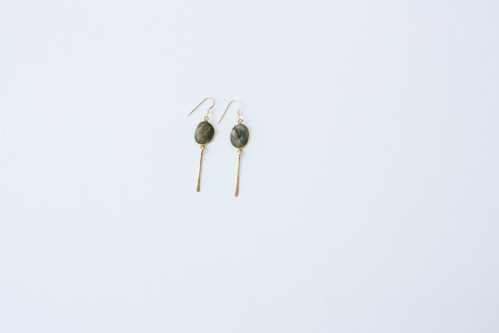 Quinn Sharp |  Dangle Earrings Labradorite