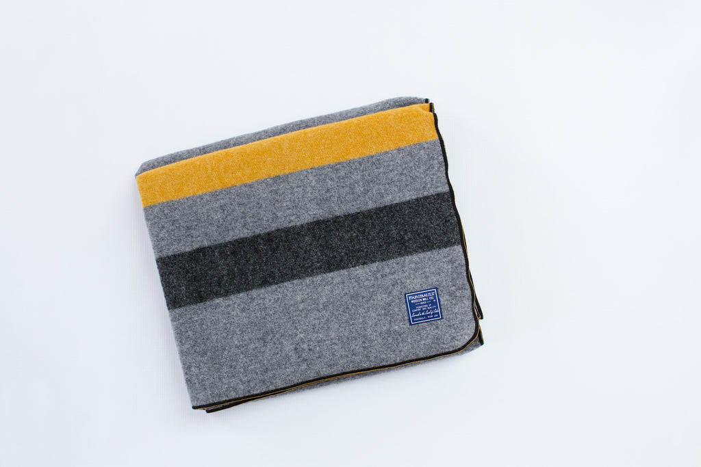 Faribault | USMA Wool Blanket - Gray/Gold/Black