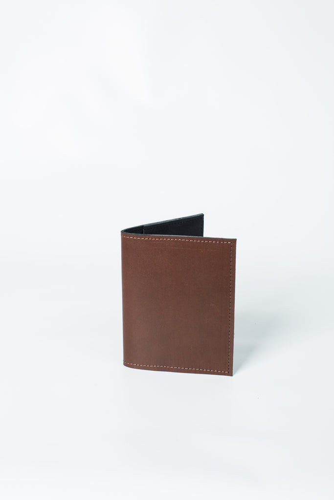 Leather Passport Cover | Brown